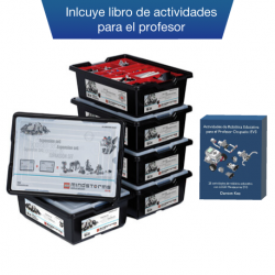 Pack de 4 robots LEGO Mindstorm EV3  + libro de actividades para el profesor