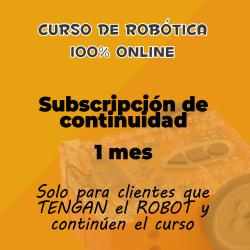 Suscripción de continuidad de 1 mes al curso online de robótica educativa