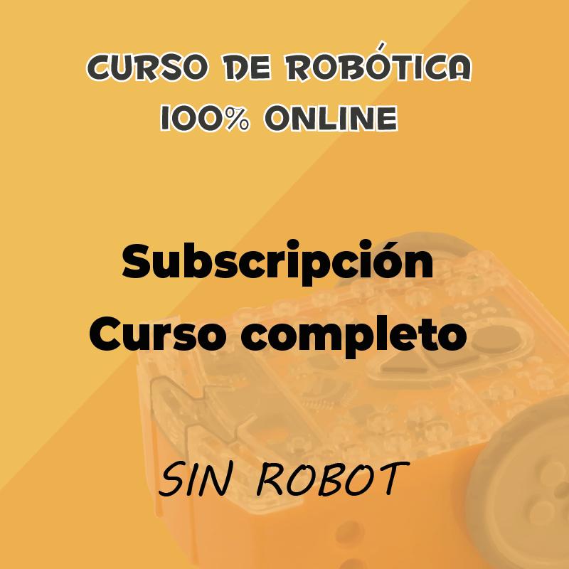Suscripción de 1 mes con robot al curso online de robótica educativa