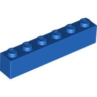 pieza larga azul
