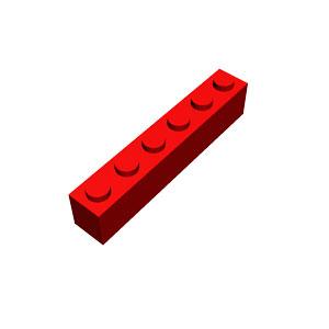 pieza larga rojo