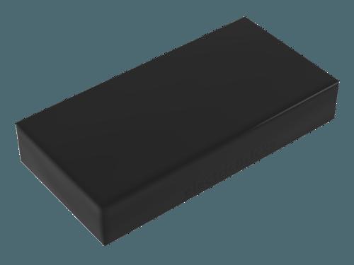 pieza plana negra