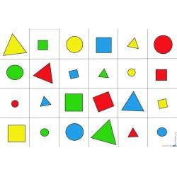 Tapete Beebot bloques lógicos básicos II